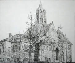 FUMC Greenfield Pen and Ink