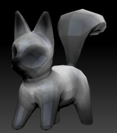 Fox Fur Density Gradient