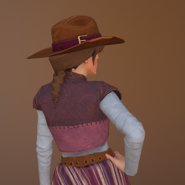Wild West and Wizards Character Render Back